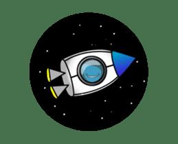 Yukli and the Milky Way sticker #12155558