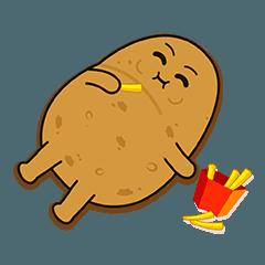 Potato King emoji stickers