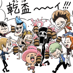 สติ๊กเกอร์ไลน์ ONE PIECE sticker by kuro-chico