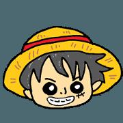 สติ๊กเกอร์ไลน์ ONE PIECE kumagaiKG Sticker4