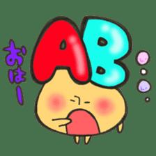 Blood type series Mr. AB mushroom sticker #12173550