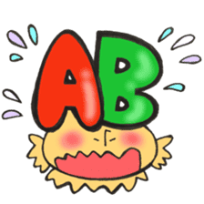 Blood type series Mr. AB mushroom sticker #12173584