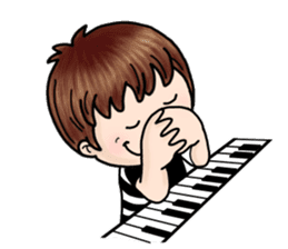 PI & OO - THE LITTLE PIANIST sticker #12176807