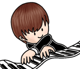 PI & OO - THE LITTLE PIANIST sticker #12176811