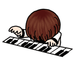 PI & OO - THE LITTLE PIANIST sticker #12176823