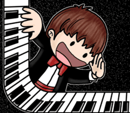 PI & OO - THE LITTLE PIANIST sticker #12176845