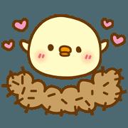 สติ๊กเกอร์ไลน์ Move! Marshmallow chick 4