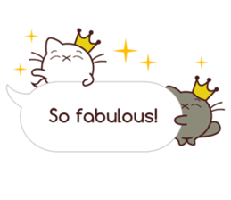 Fab Cat in Sassy Balloons sticker #12196408