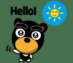 Black Eyebrows Bear 19 ( English ) sticker #12200879