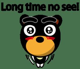 Black Eyebrows Bear 19 ( English ) sticker #12200882