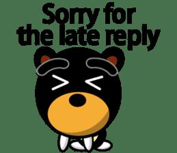 Black Eyebrows Bear 19 ( English ) sticker #12200891
