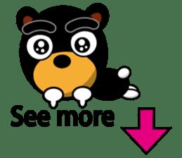 Black Eyebrows Bear 19 ( English ) sticker #12200895