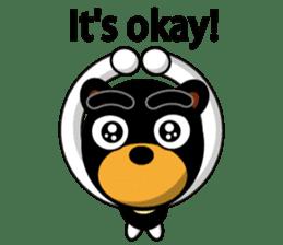 Black Eyebrows Bear 19 ( English ) sticker #12200897