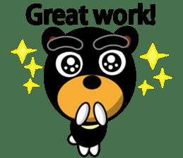 Black Eyebrows Bear 19 ( English ) sticker #12200898