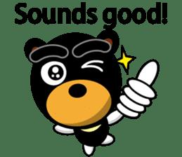Black Eyebrows Bear 19 ( English ) sticker #12200899