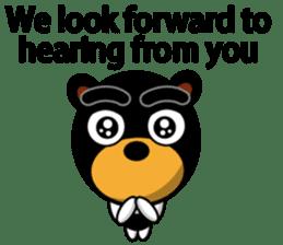 Black Eyebrows Bear 19 ( English ) sticker #12200900