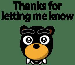 Black Eyebrows Bear 19 ( English ) sticker #12200903
