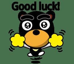 Black Eyebrows Bear 19 ( English ) sticker #12200904