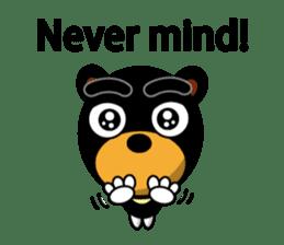 Black Eyebrows Bear 19 ( English ) sticker #12200905