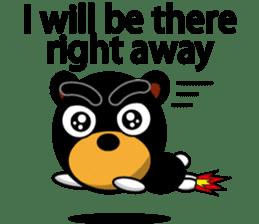 Black Eyebrows Bear 19 ( English ) sticker #12200908