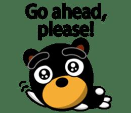 Black Eyebrows Bear 19 ( English ) sticker #12200911