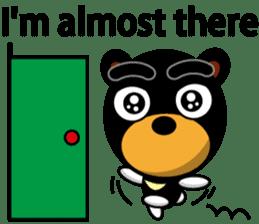 Black Eyebrows Bear 19 ( English ) sticker #12200912