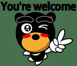 Black Eyebrows Bear 19 ( English ) sticker #12200914