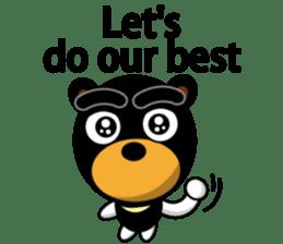 Black Eyebrows Bear 19 ( English ) sticker #12200916