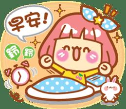 Lin Lin Chan & Machi Rabbit 2 sticker #12206758