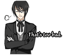 a harsh butler English version sticker #12208362
