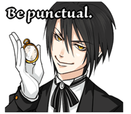 a harsh butler English version sticker #12208365