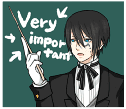 a harsh butler English version sticker #12208373
