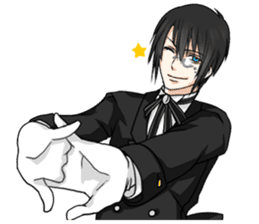 a harsh butler English version sticker #12208375
