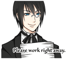 a harsh butler English version sticker #12208389