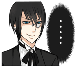 a harsh butler English version sticker #12208395