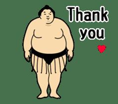 A cute Sumo wrestler animation English sticker #12211854