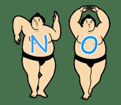 A cute Sumo wrestler animation English sticker #12211856