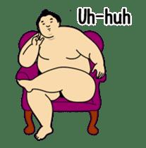 A cute Sumo wrestler animation English sticker #12211863