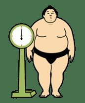 A cute Sumo wrestler animation English sticker #12211867