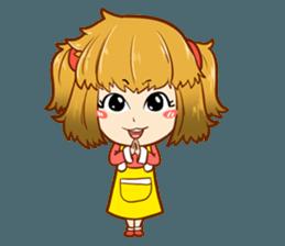 A ponytail little girl 2 + sticker #12218078