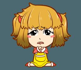 A ponytail little girl 2 + sticker #12218083