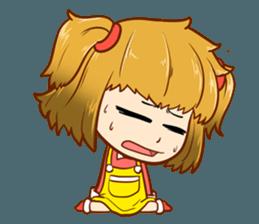 A ponytail little girl 2 + sticker #12218087