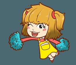 A ponytail little girl 2 + sticker #12218094