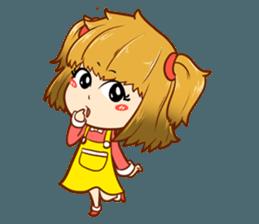 A ponytail little girl 2 + sticker #12218097