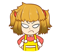 A ponytail little girl 2 + sticker #12218098