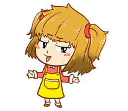 A ponytail little girl 2 + sticker #12218100
