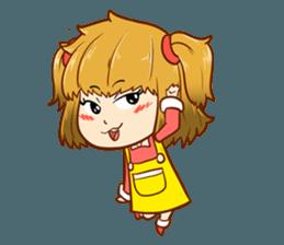A ponytail little girl 2 + sticker #12218102