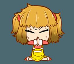 A ponytail little girl 2 + sticker #12218103