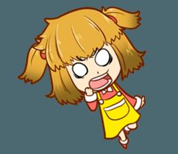 A ponytail little girl 2 + sticker #12218105