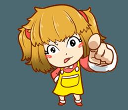 A ponytail little girl 2 + sticker #12218106